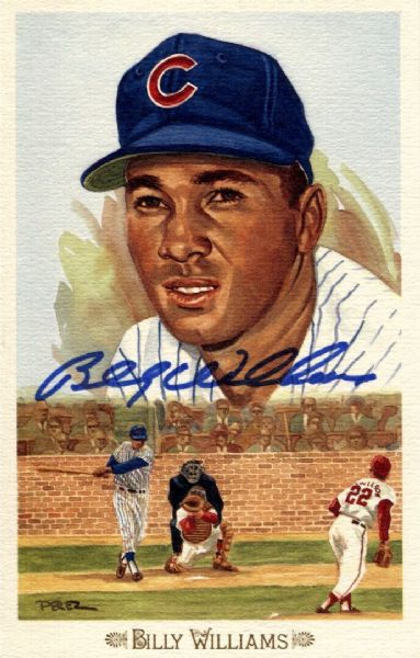 Billy Williams signed Perez Steele Celebration card