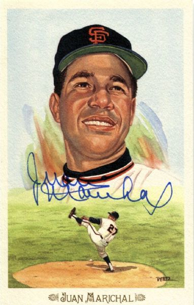 Juan Marichal signed Perez Steele Celebration Postcard