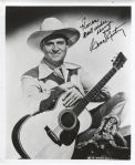 Gene Autry signed 8x10 photo Cowboy Actor Singer - First owner of the Angels