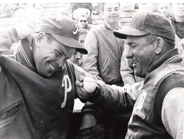 Robin Roberts & Bob Lemon 1961 Phillies Original Photo Denver Post Archives