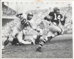 Otto Graham running vs Eagles 1955 original photo