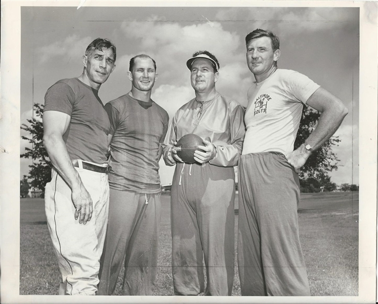 1949 Baltimore Colts AAFC – Mike Michalske, Y.A. Tittle, Cecil Isbell original photo