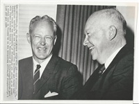 Bud Wilkinson and Dwight Eisenhower 1964 AP Press photo