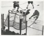 Ab McDonald scores on Jacques Plante original 1962 photo