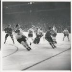 Jacques Plante – Murray Balfour – Bobby Hull original 1963 photo