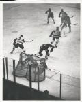Nesterenko scores on Terry Sawchuk original 1961 photo