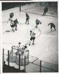 Jacques Plante stops Bobby Hull original 1962 photo