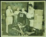 Curly Lambeau Unpacking Chicago Cardinals Jerseys  in 1950 Original Photo