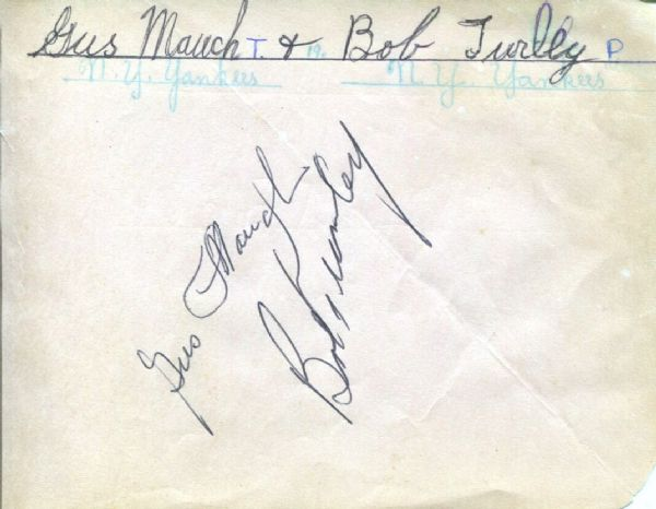 Gus Mauch signed album page Trainer for NY Giants – Yankees – First Year Mets D. 1983