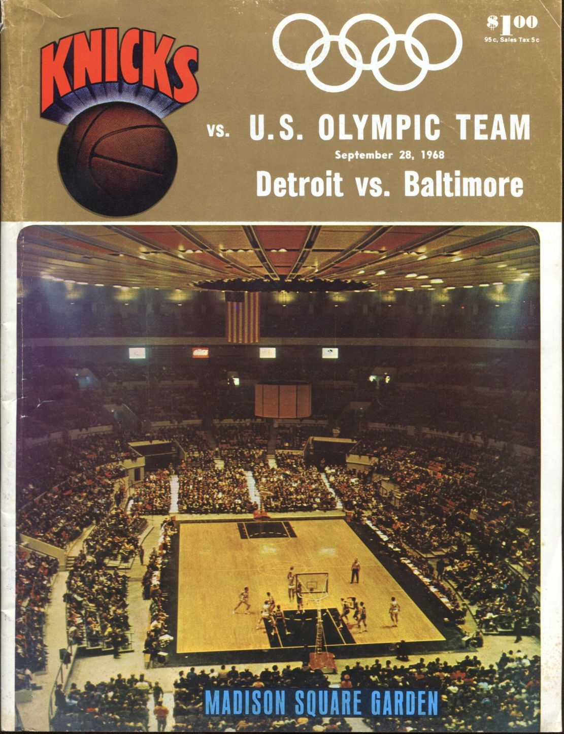 Item Detail - September 28, 1968 US Olympic Basketball team vs New ...
