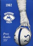 1962 BALTIMORE COLTS NFL FOOTBALL PRESS TV RADIO MEDIA GUIDE MINT Pristine