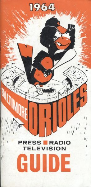 1964 Baltimore Orioles Press Radio TV Media Guide NICE