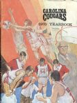 1969-1970 Carolina Cougars ABA Basketball Yearbook - bonus scorecard vs Pacers