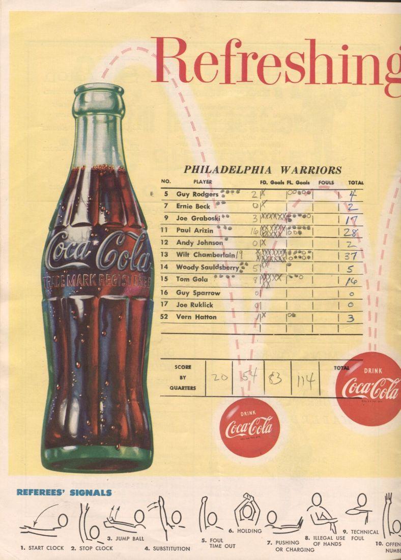 Item Detail 1959 Philadelphia Warriors Syracuse Nationals