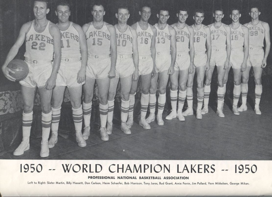 Item Detail 1950 MINNEAPOLIS LAKERS NBA CHAMPIONS YEARBOOK