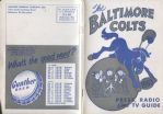1953 Baltimore Colts NFL Media Guide – Press Radio TV – 1st Year