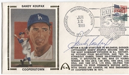Sandy Koufax signed 1989 Gateway Postal Cover Silk Cachet