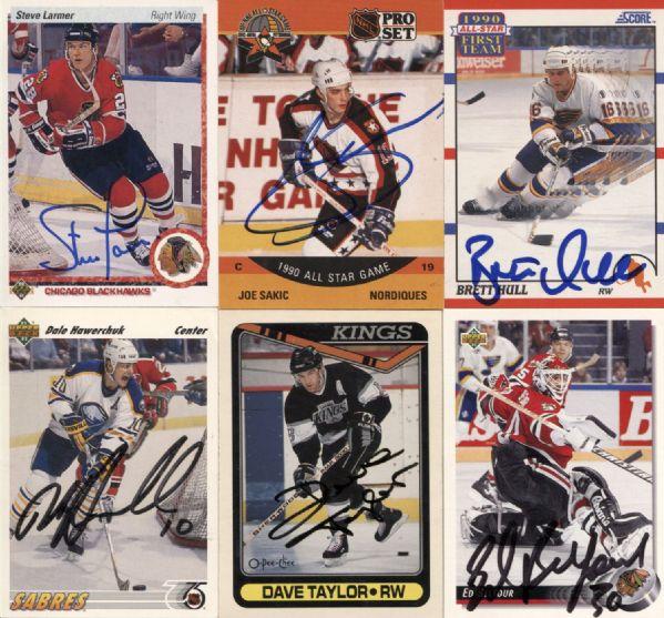 1990s Hockey Signed Gum