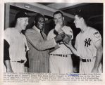 1951 Yankees players – Johnny Mize Acme wire photo with Boxing Champ  Joe Walcott