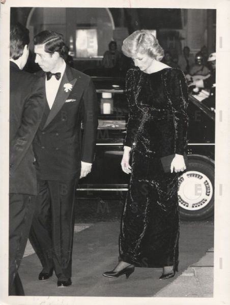 Princess Diana & Prince Charles at Comedy Show 1987 Original Photo