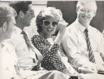 Princess Di and Charles anger cricket fans - 1987 Original Photo