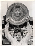 Billie Jean King Wins 1967 Wimbledon Championship Original Photo