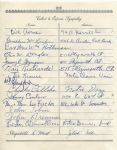 Johnny Coulon  Ed Moose Krause  Leo H. Fischer  multi-signed 1955 Arch Ward Funeral Guest Book Page