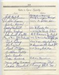 Gabby Hartnett  Les Lear  Bert Metzger multi-signed 1955 Arch Ward Funeral Guest Book Page