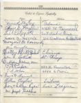 "Frank Pat Pieper ""Voice of Wrigley Field""  multi-signed 1955 Arch Ward Funeral Guest Book Page"