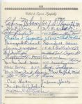 Arthur Bidwill - Clem Lane  multi-signed 1955 Arch Ward Funeral Guest Book Page