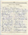 Lou Gordon Packers multi-signed 1955 Arch Ward Funeral Guest Book