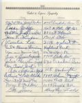 Jimmy Archer multi-signed 1955 Arch Ward Funeral Guest Book Page