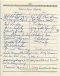 Barney Ross Boxing Champ multi-signed 1955 Arch Ward Funeral Guest Book Page