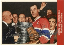 1956-57 Parkhurst Missing Link Montreal Canadiens Card #178 signed by Emile Butch Bouchard