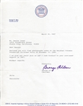 Pro Football HOFer - George Allen Typed Letter Signed March 1987 to Deacon Jones