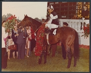 1975 Original Photo Foolish Pleasure - Kentucky Derby Champ Winner's Circle