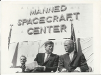 John F. Kennedy Meets with John Glenn after His Orbit of the Earth Original Photo