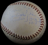 Robert Bob Harmon Single Signed Baseball – Cardinals – Pirates  D. 1961