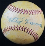Whitey Kurowski vintage Single Signed Baseball -  St. Louis Cardinals D. 1999
