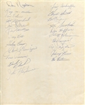 1965 New York Mets Team Signed Photo with 22 Autographs