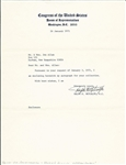 Ralph Metcalfe Signed Letter – Olympic Gold Medalist – Jesse Owens Counterpart