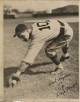Lloyd Waner signed and personalized 8x10 photo to Rip Collins