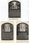 Collection of 11 B&W Signed HOF Plaque Postcards