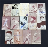 Collection of 14 Different Autographed Exhibit Cards & Postcards HOF'ers & Stars