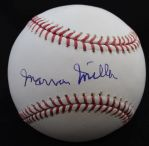 Marvin Miller single signed Baseball - Deceased