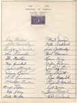 1939 St. Louis Cardinals Signed Team Sheet by 26