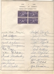 1939 Kansas City Blues (NY Yankees) Signed Team Sheet by 22
