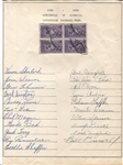1939 Louisville Colonels (BOS Red Sox) Signed Team Sheet by 21