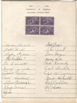 1939 Milwaukee Brewers (CHI Cubs) Signed Team Sheet by 21