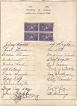 1939 Minneapolis Millers Signed Team Sheet by 22 w/ Team Photo